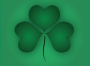 Green Shamrock Background