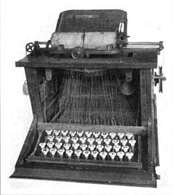 250px-Sholes_typewriter